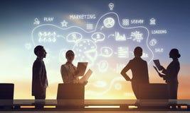 Обсуждение на деловой встрече стоковое изображение rf