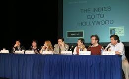 Обсуждение общественно важного вопроса группой специально отобранных людей на 2-ом фестивале фильмов Tribeca Стоковое Изображение RF