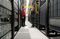 Обсуждение Datacenter стоковое изображение rf