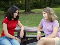 обсуждение sisterly Стоковое Фото