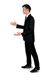 Обсуждение бизнесмена сердитое Стоковое Изображение
