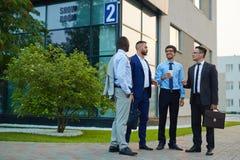 Обсуждение бизнесменов Стоковое Фото