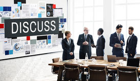 Обсудите концепцию дискуссии переговоров обсуждения говоря Стоковое Изображение RF