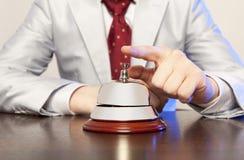 Обслуживайте колокол на гостинице стоковые фотографии rf