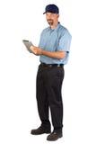 Обслуживайте техника принимая заказ Стоковые Фотографии RF