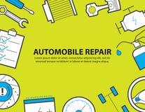 Обслуживание автомобиля, гараж, предпосылка оборудования бесплатная иллюстрация