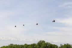 Обслуживание вертолета Стоковые Фото