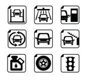 обслуживание замены масла автомобиля шара поднятое подъемом Стоковые Фотографии RF