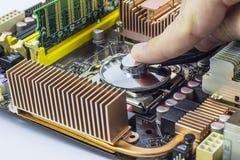Обслуживание компьютера стоковое фото rf