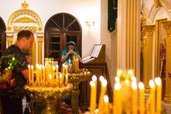 Обслуживание рождества и дежурство на пиршестве рождества Христоса (Русская православная церковь) Стоковое Фото