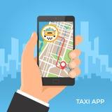 Обслуживание такси и концепция навигации gps Стоковые Изображения RF