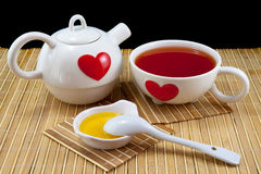 Обслуживание чая Стоковые Изображения RF