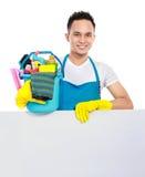 Обслуживание чистки с белой доской Стоковые Изображения