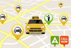 Обслуживание Apps такси иллюстрация штока