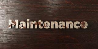 Обслуживание - grungy деревянный заголовок на клене - представленное 3D изображение неизрасходованного запаса королевской власти Стоковые Изображения RF