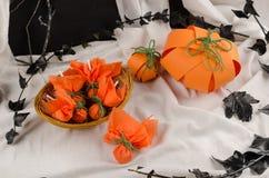 обслуживания постоянного посетителя halloween carmel яблока candied Стоковые Фото