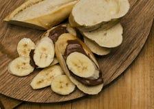 обслуживания Choco-банана Стоковое Изображение
