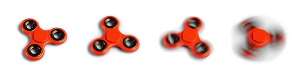 Обтекатель втулки непоседы в различных различных скоростях вращения Стоковое Изображение