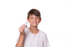 Обтекатель втулки непоседы удерживания мальчика Стоковая Фотография RF