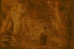 Обтертая коричневая текстура grunge Стоковая Фотография