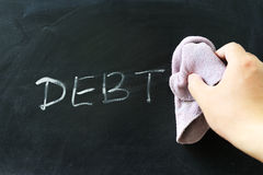 Обтирать с задолженности Стоковые Изображения RF