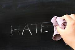 Обтирать с ненависти стоковые изображения rf
