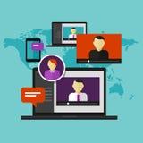 Обучение по Интернетуу дистанционого обучения концепции образования онлайн обучения Webinar Стоковые Фото
