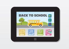 Обучение по Интернетуу, назад к школе бесплатная иллюстрация