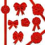 обхватывайте комплект красного цвета подарка Стоковое Изображение