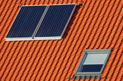 обшейте панелями солнечное Стоковое фото RF