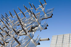 обшивает панелями солнечное стоковое фото