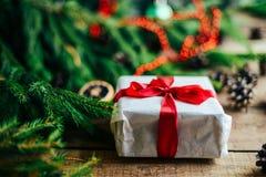 Обширная серия съемок праздника с разнообразие упорками и предпосылками Серии copyspace для объявлений Подарки на рождество на де стоковое изображение