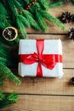 Обширная серия съемок праздника с разнообразие упорками и предпосылками Серии copyspace для объявлений Подарки на рождество на де стоковые фотографии rf