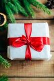 Обширная серия съемок праздника с разнообразие упорками и предпосылками Серии copyspace для объявлений Подарки на рождество на де Стоковые Фото