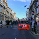 Обширная улица, Оксфорд, Великобритания, 4-ое декабря 2016: Искусства Стоковые Изображения RF