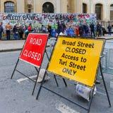 Обширная улица, Оксфорд, Великобритания, 27-ое ноября 2016: Установка b искусства Стоковая Фотография