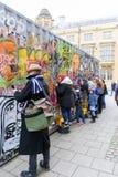 Обширная улица, Оксфорд, Великобритания, 27-ое ноября 2016: Установка b искусства Стоковое Изображение