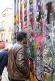 Обширная улица, Оксфорд, Великобритания, 27-ое ноября 2016: Установка b искусства Стоковое фото RF
