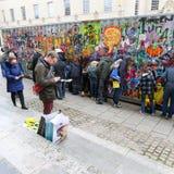 Обширная улица, Оксфорд, Великобритания, 27-ое ноября 2016: Установка b искусства Стоковые Изображения RF