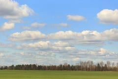 Обширное голубое небо и небо облаков Стоковая Фотография