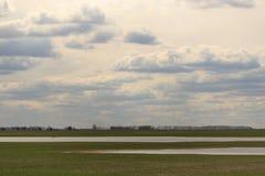 Обширное голубое небо и небо облаков Стоковое Изображение RF