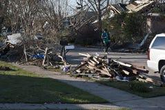 Обширное разрушение после торнадо Стоковое Фото
