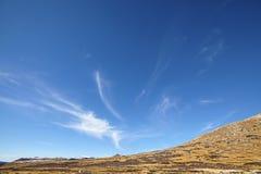 Обширное cloudscape над горами пропуска независимости, Колорадо, США Стоковое Изображение RF