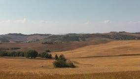 Обширные поля Тосканы, Италии стоковая фотография rf