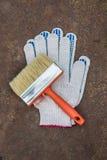 Обширные щетка и перчатки Стоковая Фотография RF