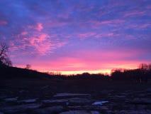 Обширный заход солнца Стоковые Изображения RF