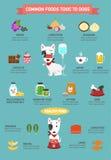 Общая еда токсическая к собакам infographic иллюстрация штока
