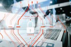 Общая концепция регулировки GDPR и безопасности защиты данных C Стоковые Изображения