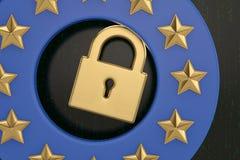 Общая регулировка защиты данных, защита личного d стоковая фотография rf