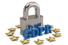Общая регулировка защиты данных, защита личного d стоковая фотография